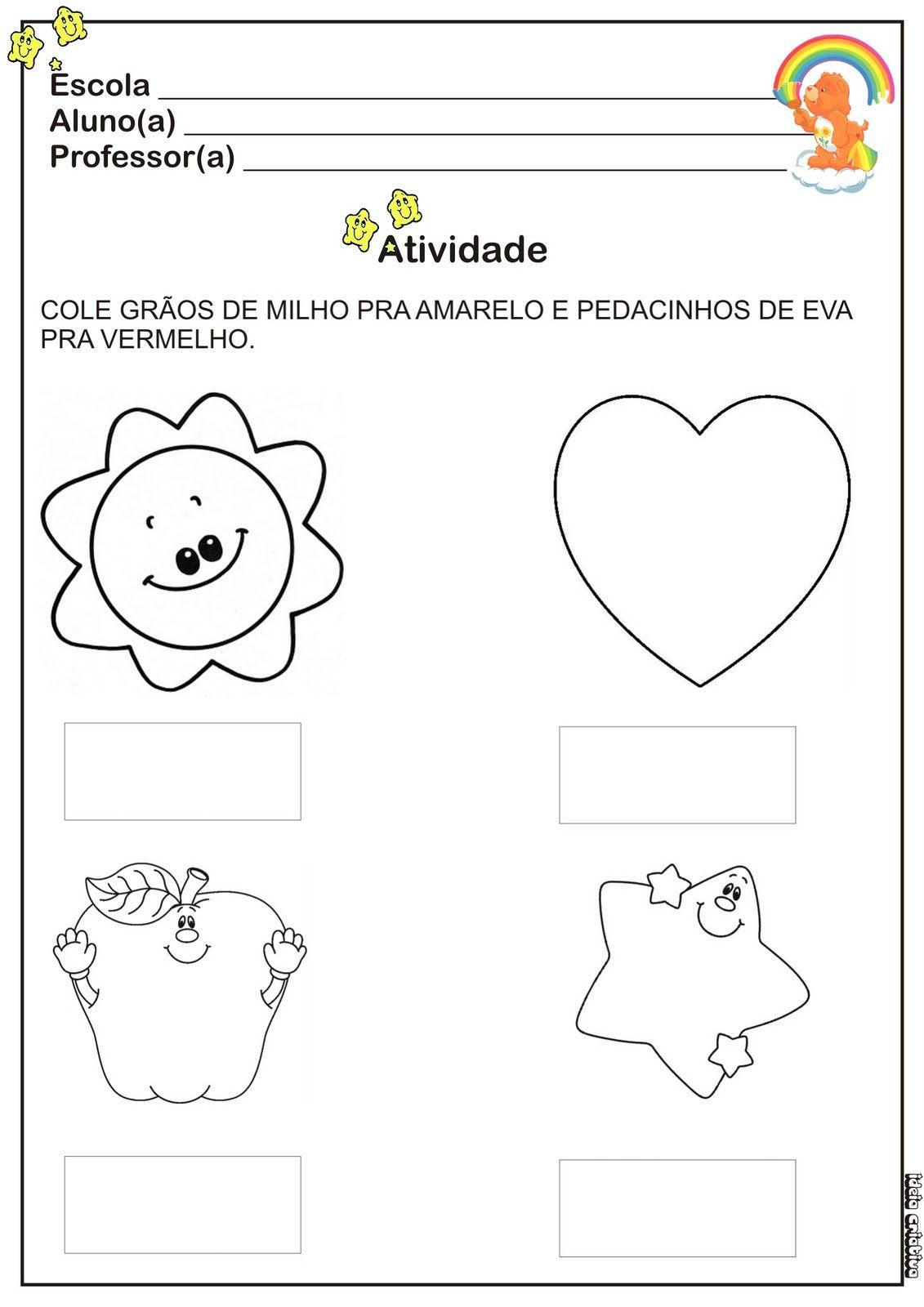Resultado De Imagem Para Cores Primarias Educacao Infantil Com