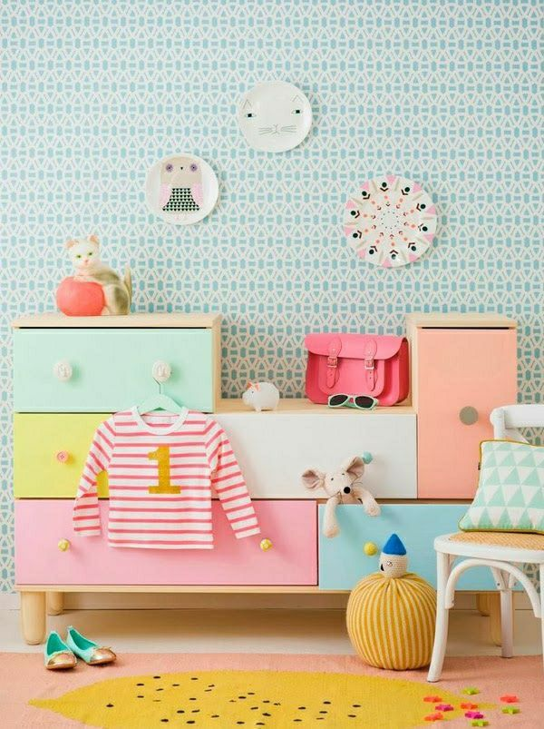 super-schöne-tapeten-kinderzimmer-tapeten-kinderzimmer-gestalten ... - Ideen Kinderzimmer Tapeten Muster