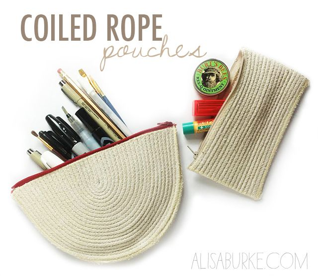 fashion friday- coiled rope pouches