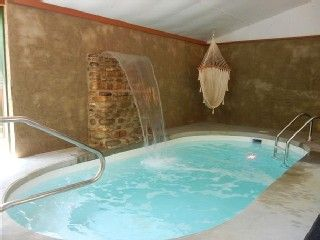 sweet indoor pools. Cabin for 2 w indoor Swimming Pool and Waterfall all private  Sweet