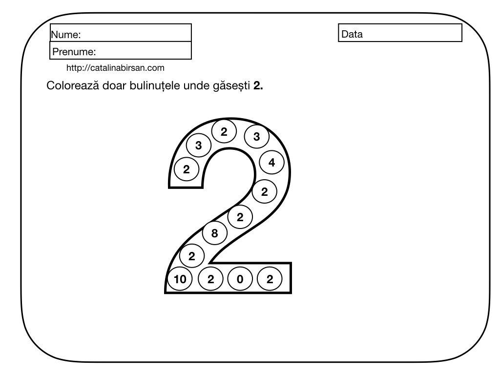 Materiale pentru numerele si cifrele 1-10. Numara, scrie, coloreaza, decupeaza si lipeste. 13 fise. – Catalina Bîrsan