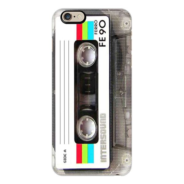 iPhone 6 Plus/6/5/5s/5c Case - Vintage 80's Cassette Tape (535 ARS) ❤ liked on Polyvore featuring accessories, tech accessories, cases, phone, phone cases, iphone case, slim iphone case, 80s fashion, 80s iphone case and apple iphone cases