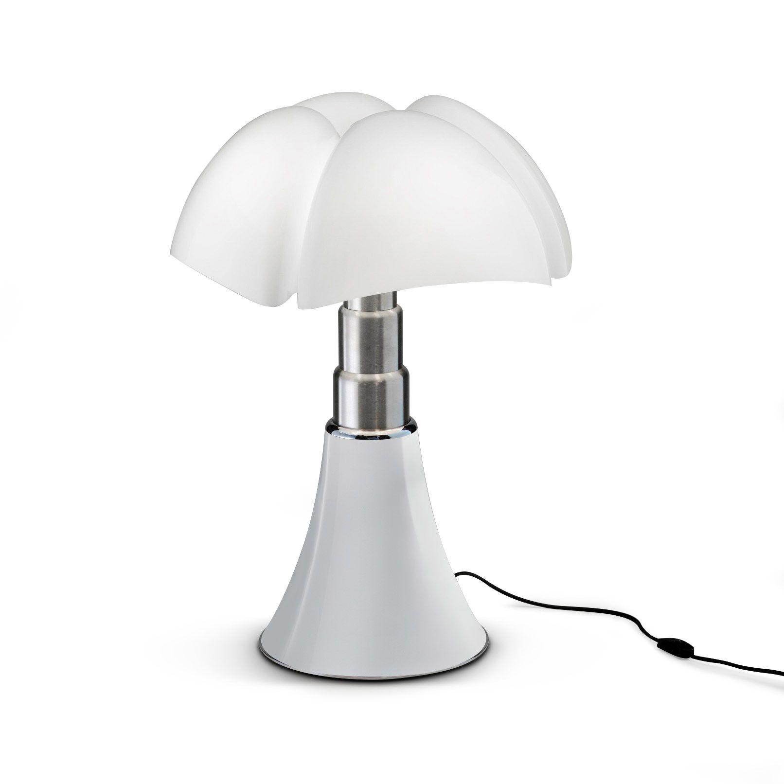 Lampe Blanc Led H35cm Mini Pipistrello Table Led Opale  # Table Basse Blanc Avec Lampe Led