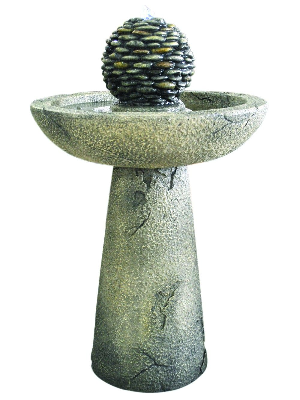 Kelkay Pebble Bird Bath Easy Fountain Water Feature | Pinterest ...
