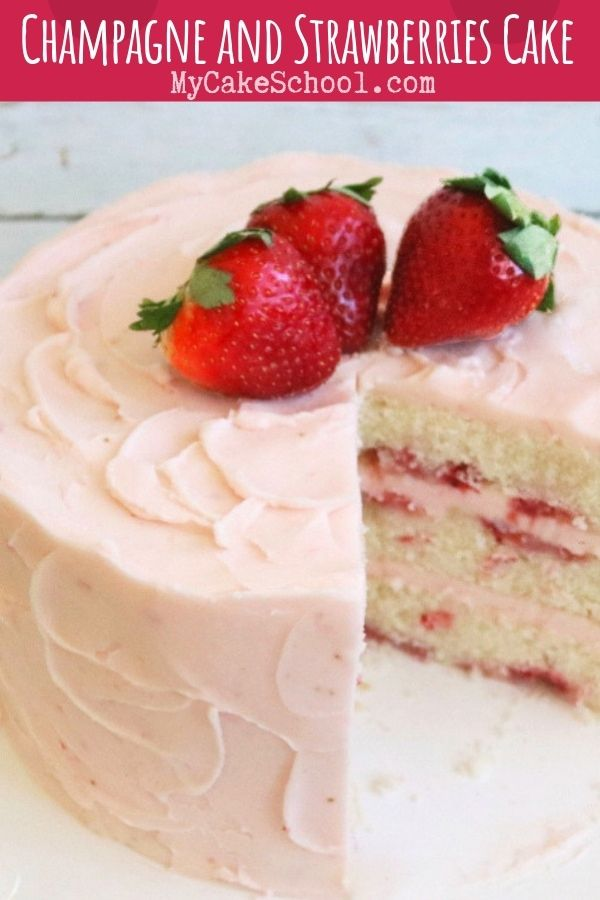 Photo of Champagne and Strawberries Cake Recipe