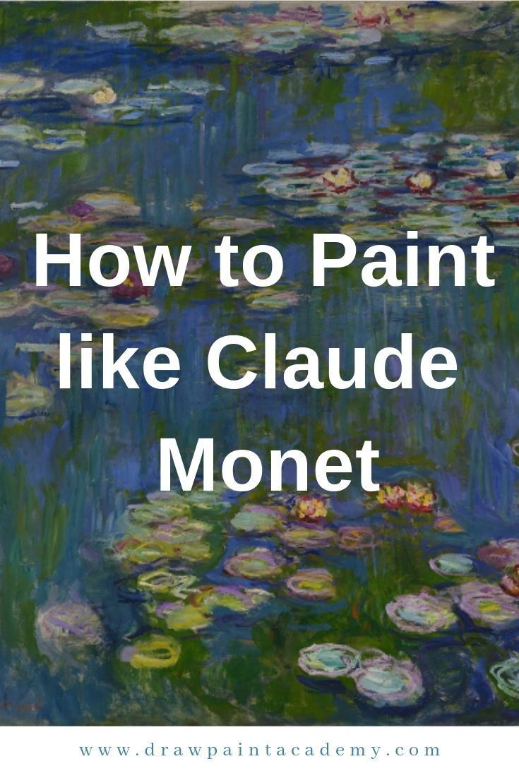 How to Paint like Claude Monet. Like many other aspiring artists, when I started painting I was fascinated in creating paintings which looked like photographs. I tried to paint everything with meticulous detail. But Monet and many of the other Impressionists taught me that less is often more in a painting and that there is a subtle beauty in letting the imagination do some of the work. #drawpaintacademy