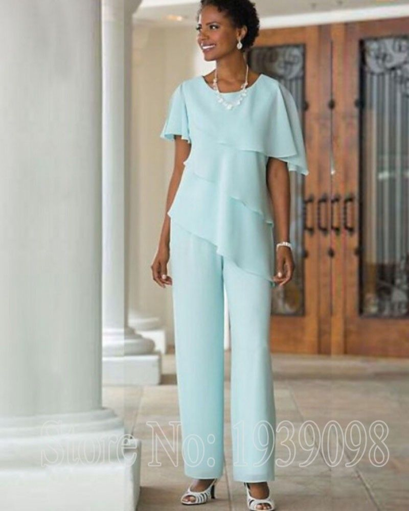 Two-Pieces-Chiffon-Mother-of-the-btide-pant-suits-2016-Tiered-Bodice ...