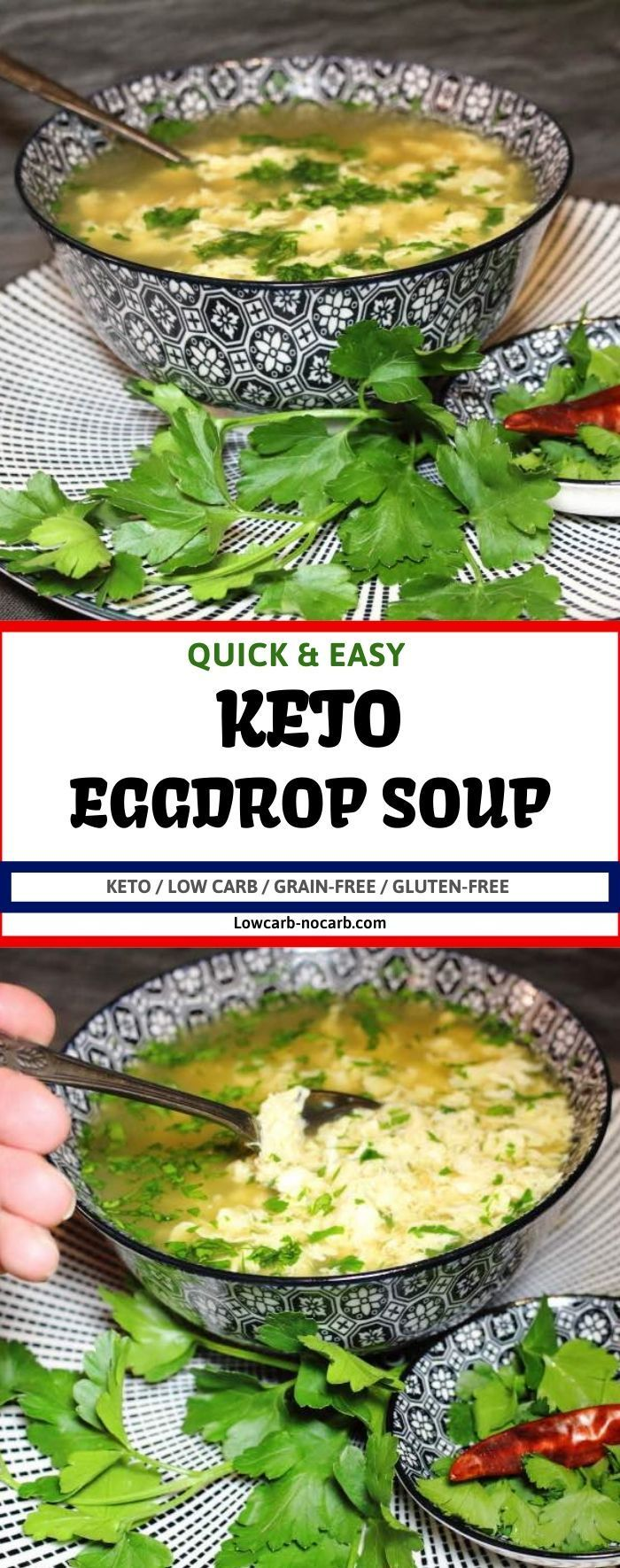 Keto Egg Drop Soup is the easiest way to give bone Broth a challenge