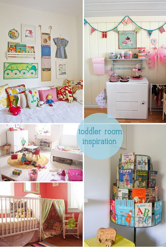 Toddler Room Inspiration: reading nook, play kitchen ...