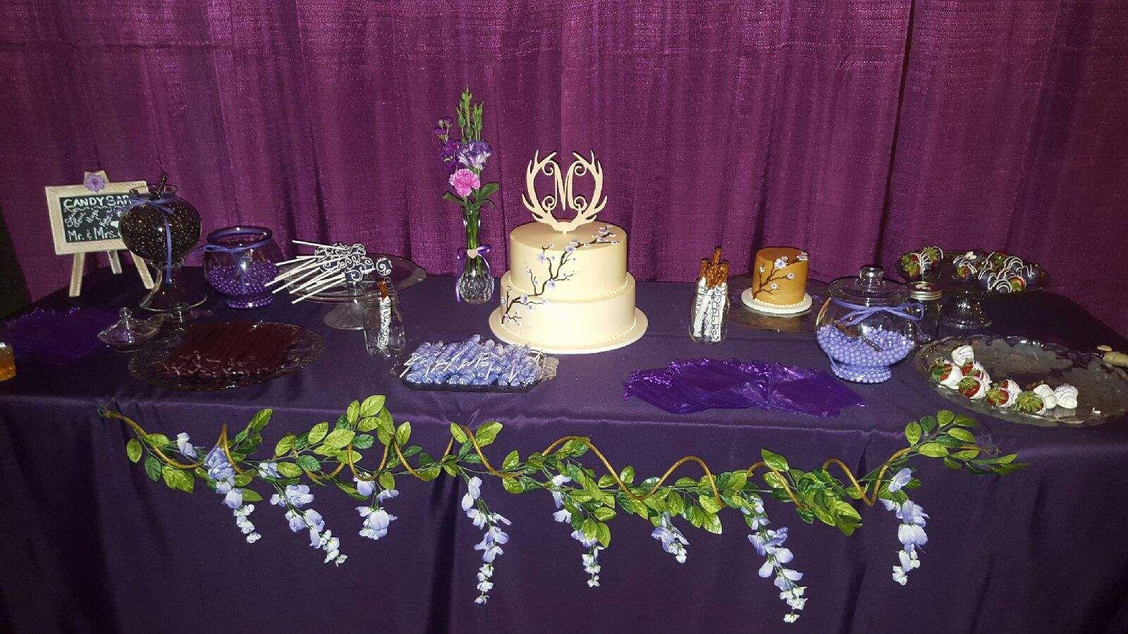 Cakecandygoodie table my sweet baby girl laurenus wedding