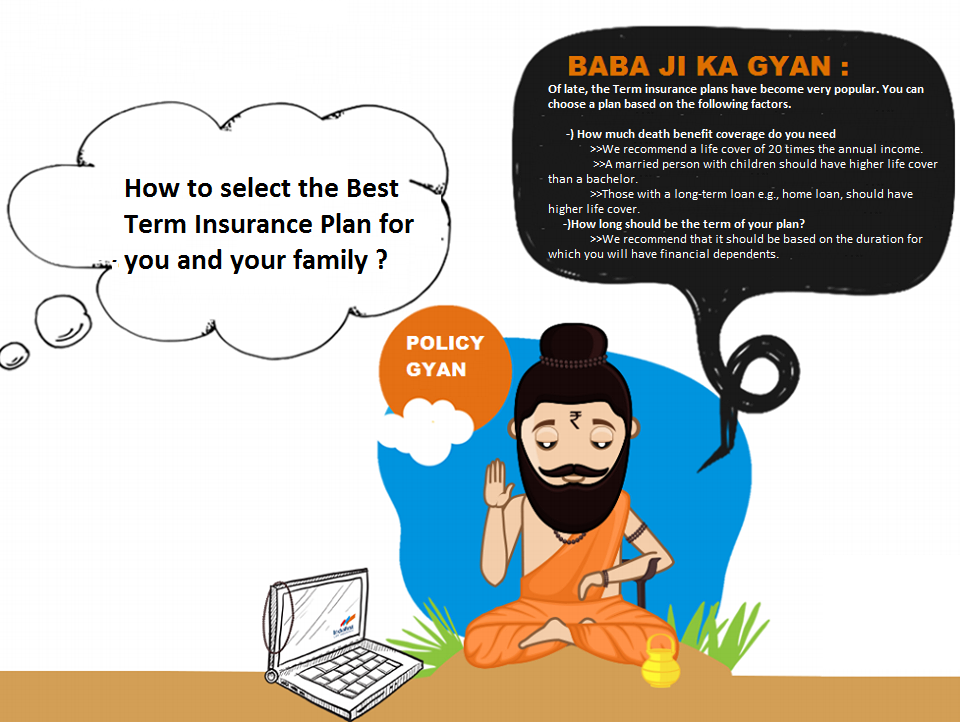BABAJIKAGYAN How to select the Best Term Insurance Plan