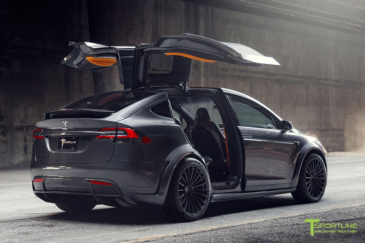Midnight Silver Metallic Tesla Model X P100d T Largo Limited Edition Carbon Fiber Wide Body Package Tesla Model X Tesla Model Tesla