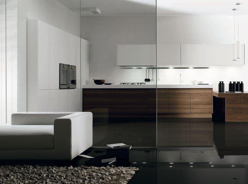 Muebles de cocina acabados Cusan Nogal y Sedamat Blanco de Doca ...