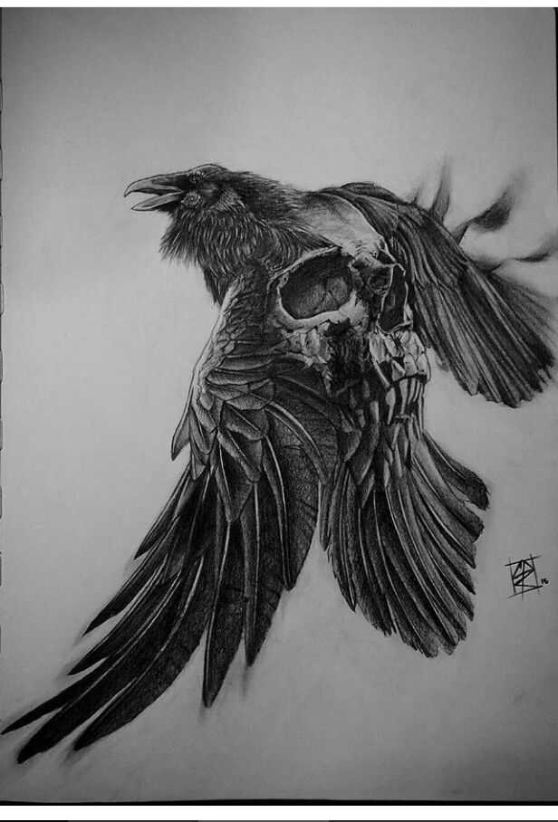 cuerbo de muerte | Tattoos, Raven tattoo, Tattoo designs