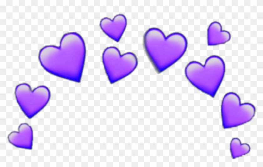 Find Hd Purple Heart Crown Heartcrown Emoji Iphone Random Stick Blue Heart Crown Png Transparent Png Is Free Png Image Download Crown Png Emoji Heart Crown