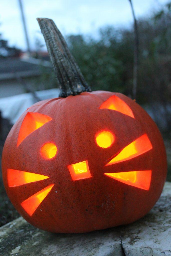Easy Pumpkin Designs Carved Simple Carving Ideas Pumpkins
