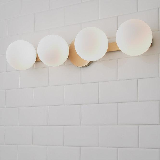 Mounted Globe Ring Vanity Light 4 Light Vanity Lighting Modern Bathroom Design Contemporary Bathroom Lighting