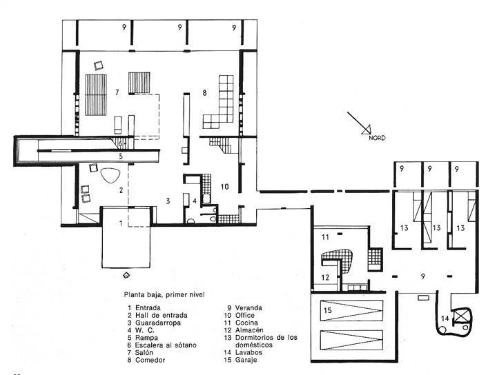 Architechnophilia House Of The Week 63 Shodan House Ahmedabadbuilding Plansle Corbusierfloor