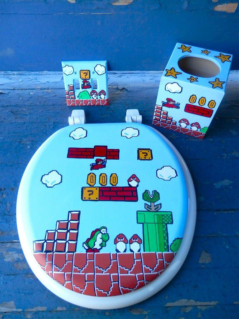 Mario Bathroom Set Mario Bathroom Accessories Sets