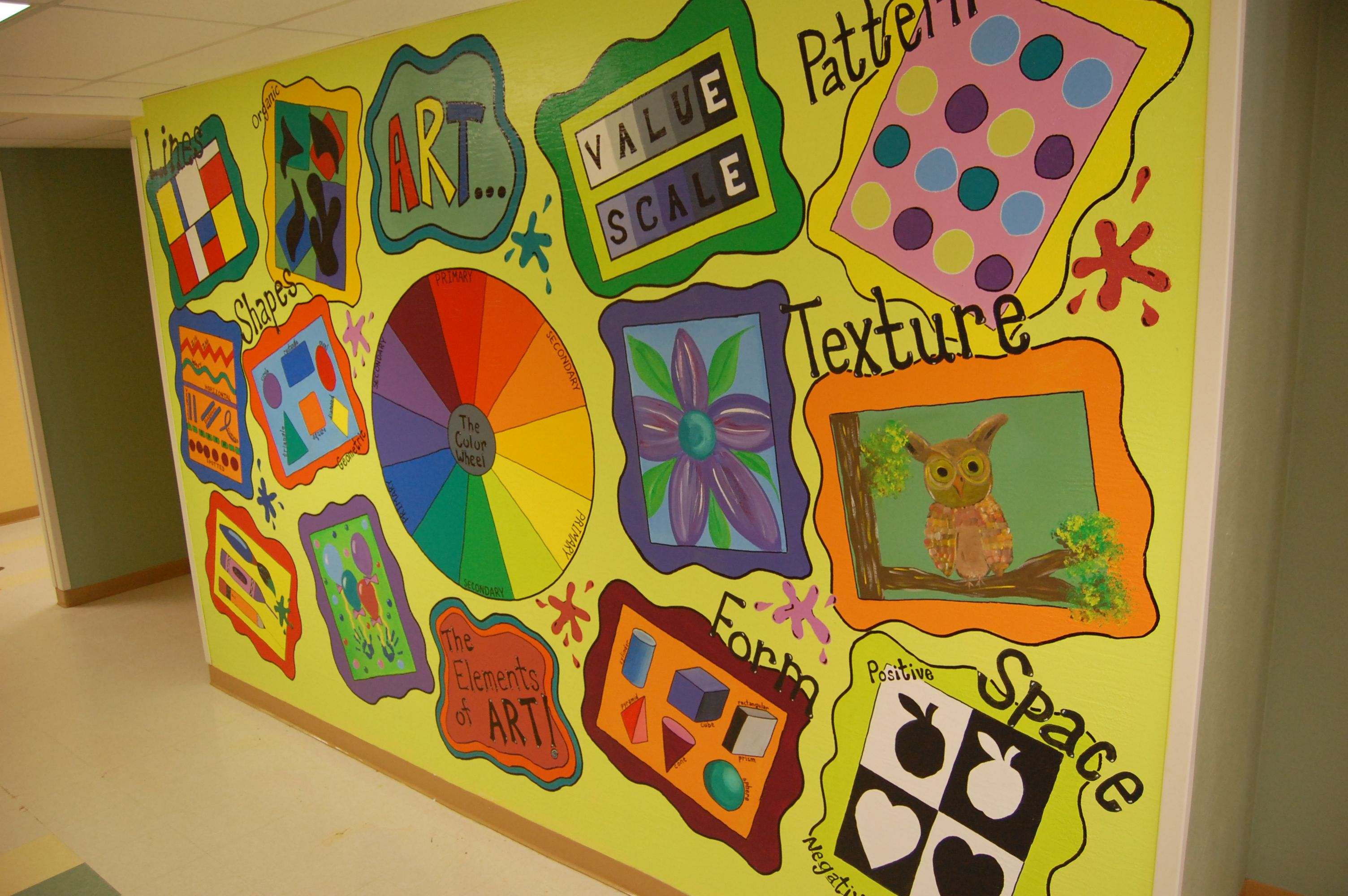 Arts And Elements : Art elements and principles mural