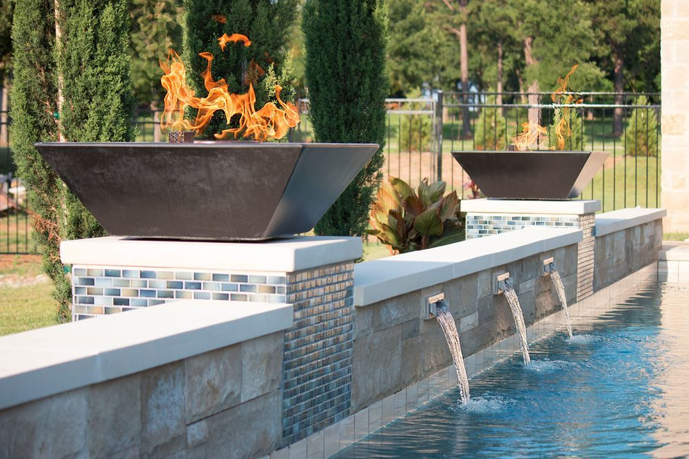 Fire Pot Copper Slot Scuppers Stainless In 2019 Pool