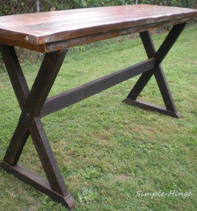 Custom Bar Height Table   Simple Hinge Llc