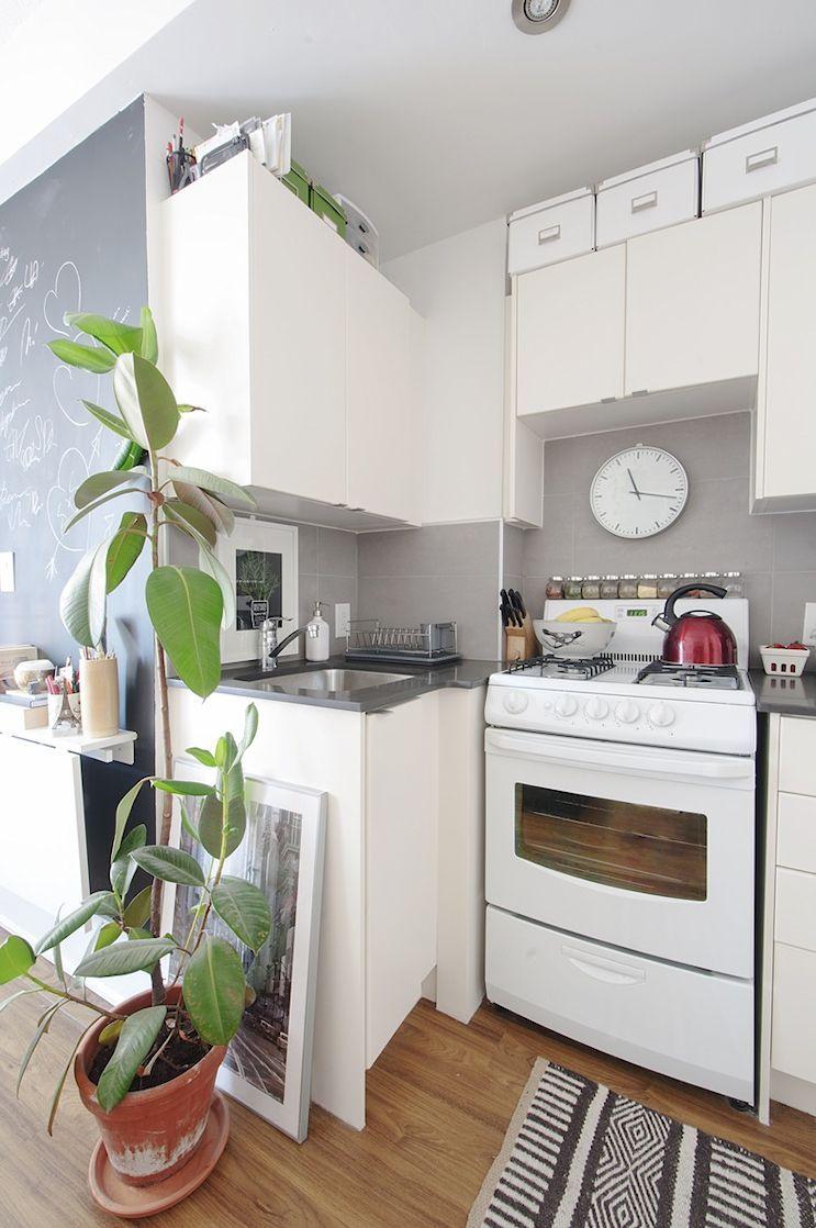 7 Monoambientes Muy Peque Os De 15 A 19 Metros Cajas Para  # Muebles Pequenos Para Cocina