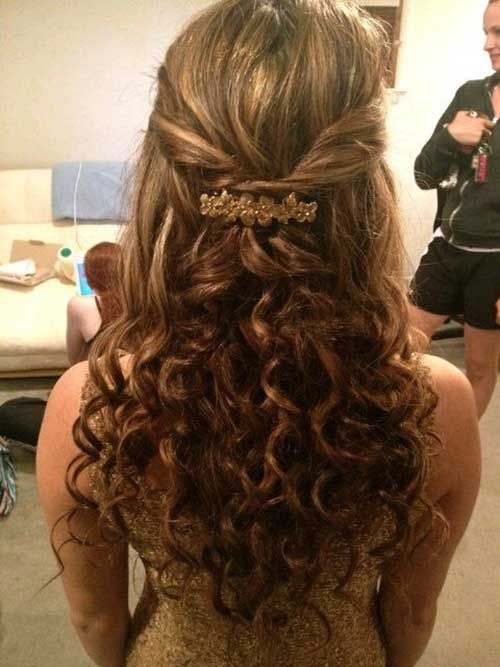 Cute Curly Half Up Hair for Prom Hairstyle Idea - Cute Curly Half Up Hair For Prom Hairstyle Idea Prom Hair