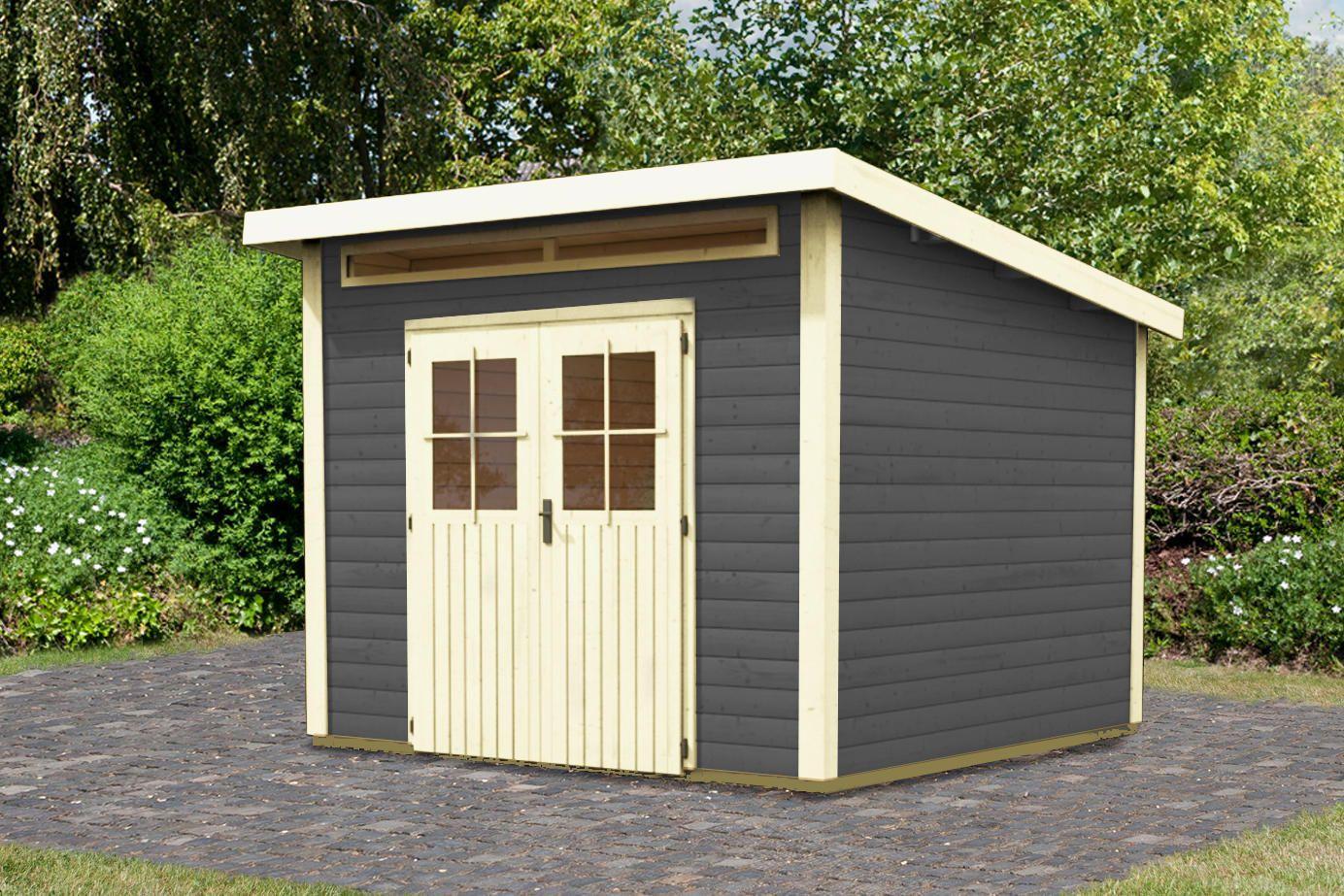 PultdachGartenhäuser Kulpin von Woodfeeling, 28 mm