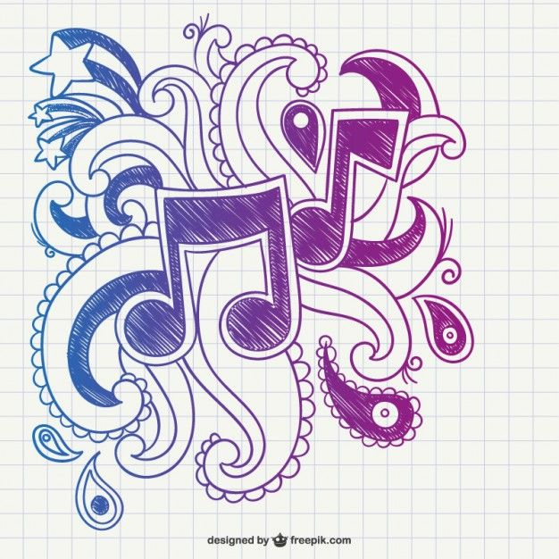 notas musicais rabiscar