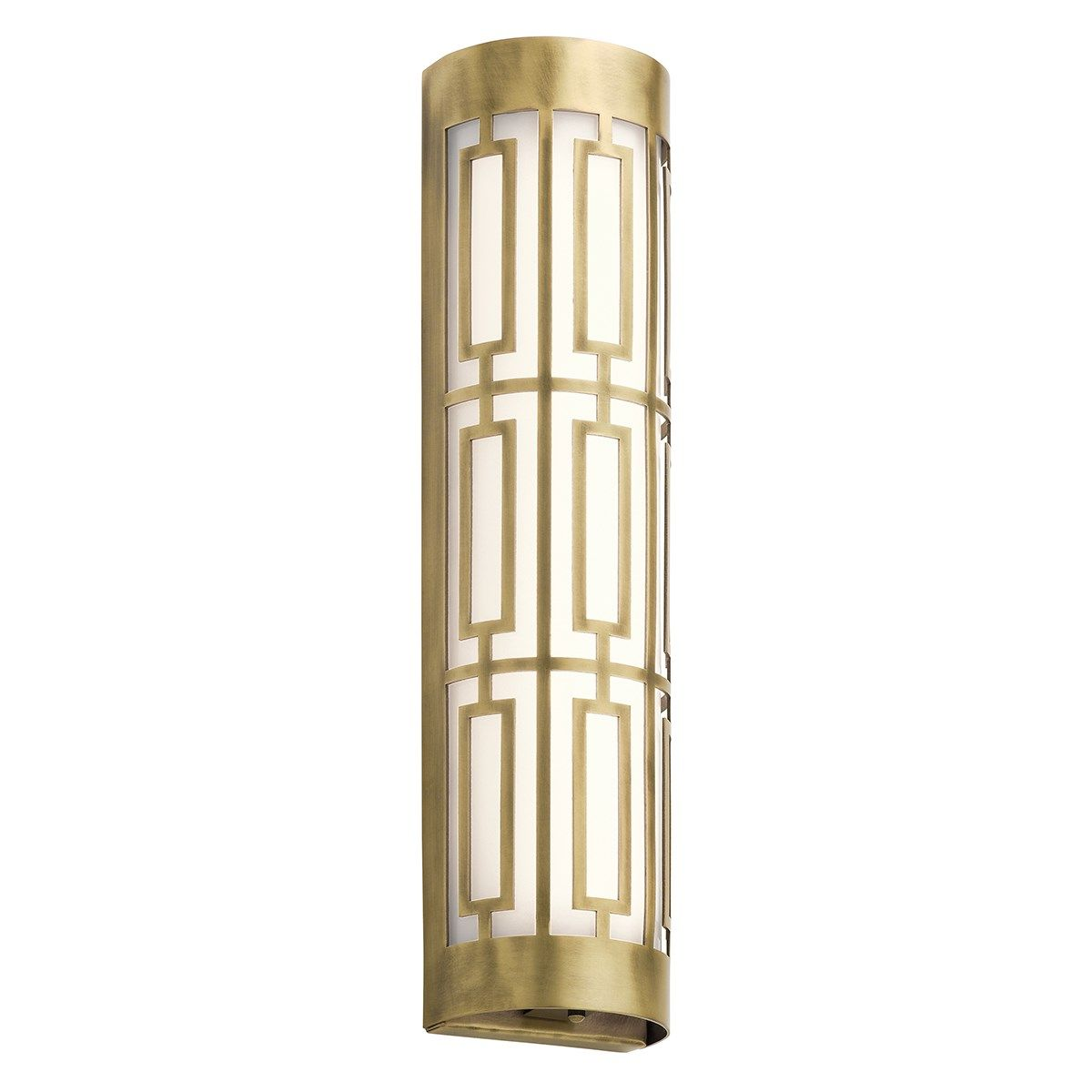 Empire 20 Led Linear Wall Sconce Natural Brass Kichler Lighting Led Bathroom Lights Bath Light Kichler Lighting