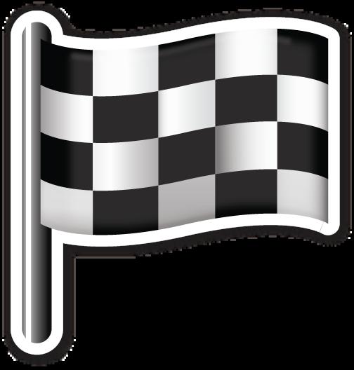 Chequered Flag Emoji Stickers Emoji Checkered Flag
