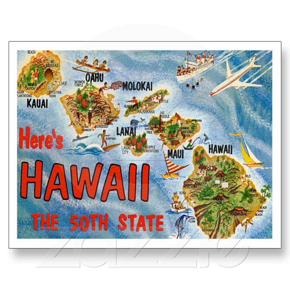 Retro style postcards greetings from hawaii hi post card from retro style postcards greetings from hawaii hi post card from zazzle kristyandbryce Choice Image