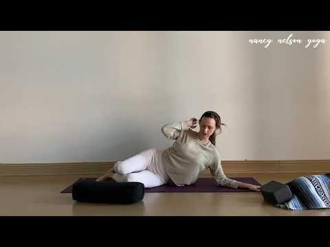 30 min yin yoga class for the shoulders  neck  youtube