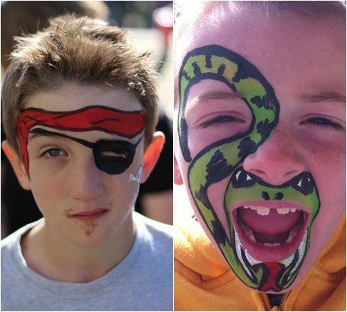 Caras de niños pintadas faciles - Imagui