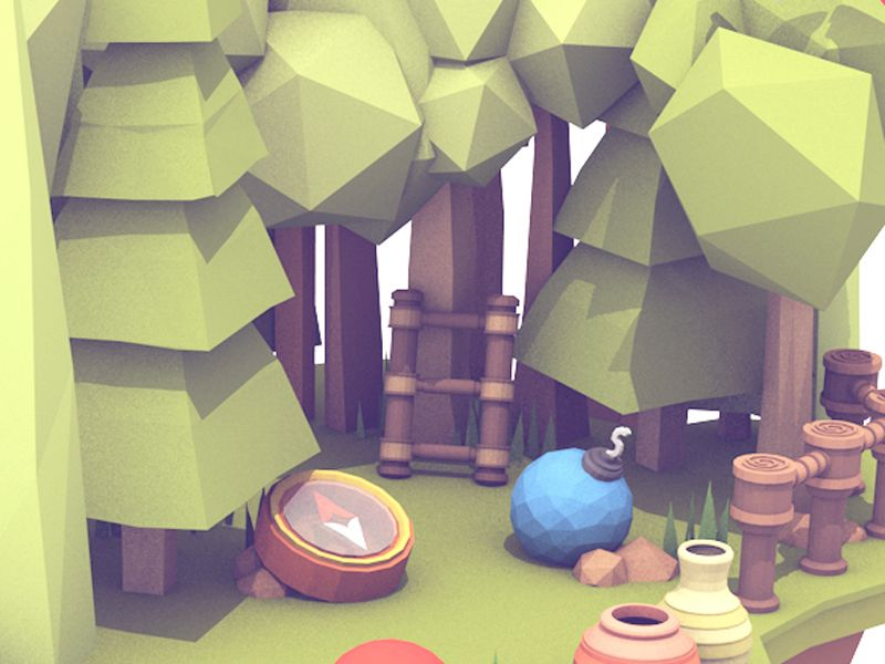 Illustrator at twitch low poly games low poly models