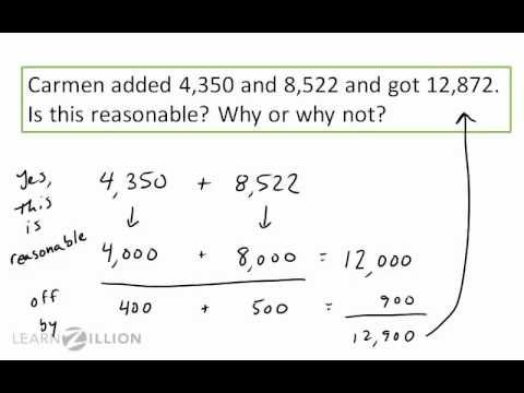 Video From Learn Zillion Explaining How To Use Front End Estimation Homeschool Math Learning Math Front end estimation worksheets
