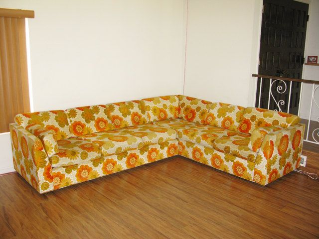 Cool Unique 70S Two Piece Sectional Sofa Retro Furniture Creativecarmelina Interior Chair Design Creativecarmelinacom