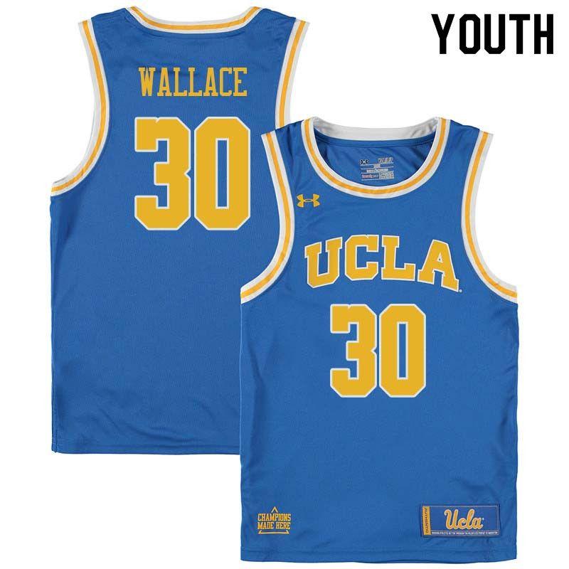 2b464f098cb Youth  30 Joseph Wallace UCLA Bruins College Basketball Jerseys Sale-Blue
