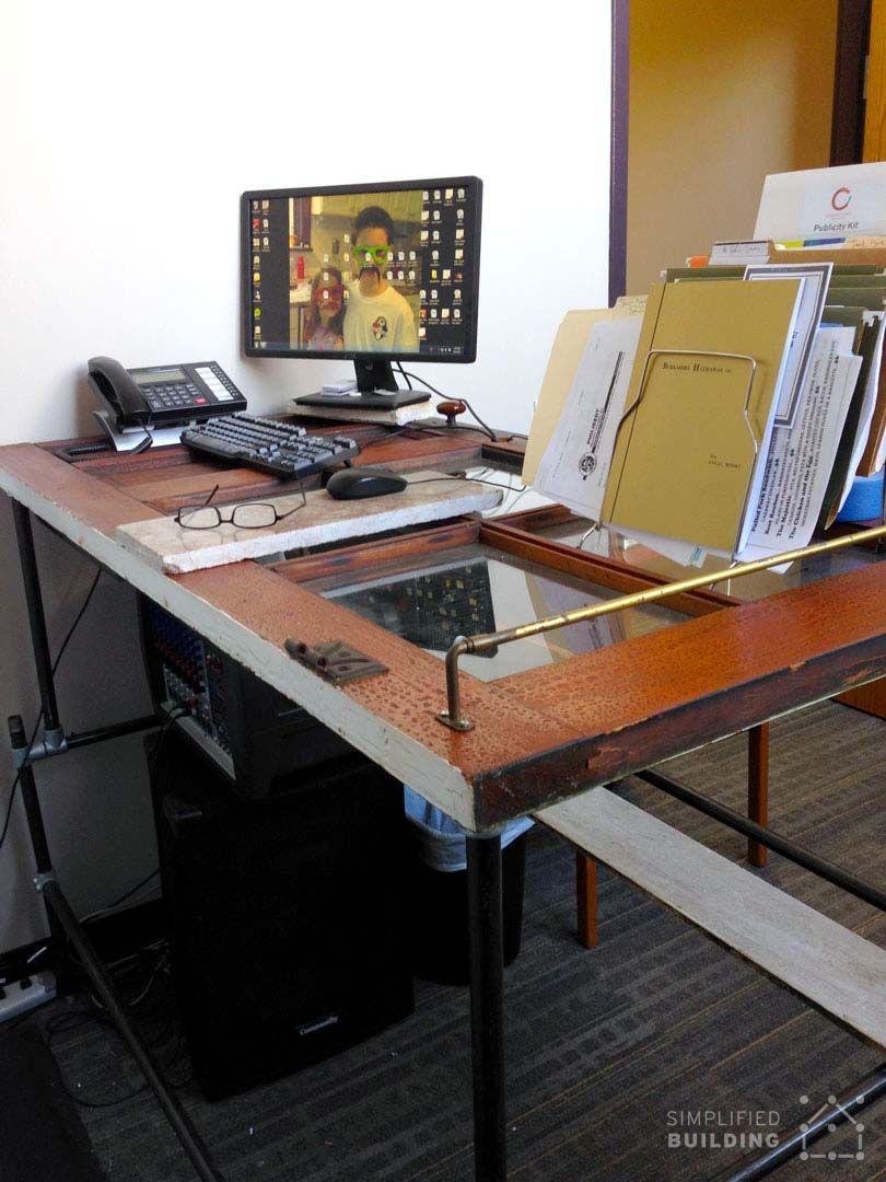 Standing Desk With Old Door Table Top Keeklamp Diy Standingdesk