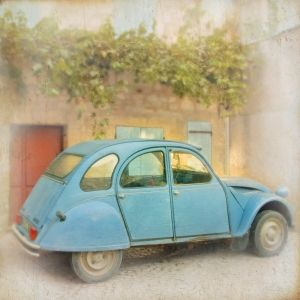Paris Citroen French Vintage Retro Car Photograph Art Print by ana9112
