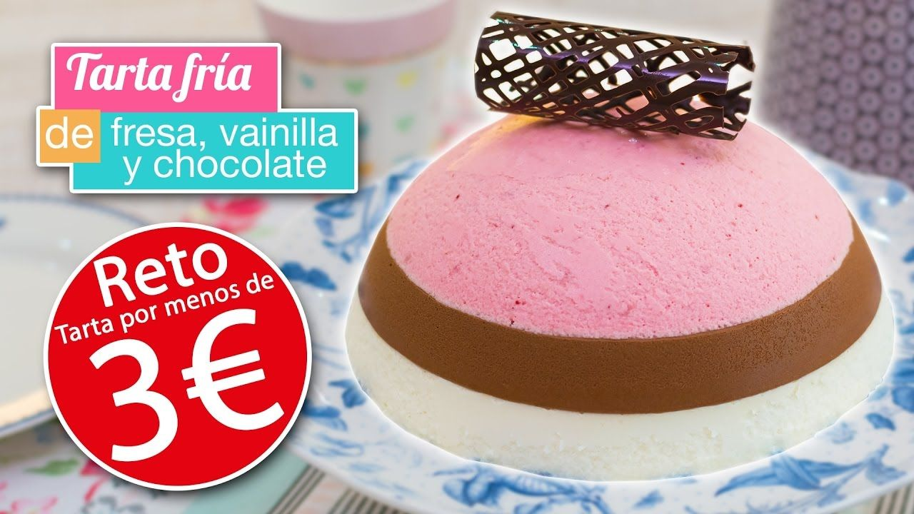 Tarta fría por MENOS DE 3 EUROS | Chocolate, vainilla y fresa | Quiero Cupcakes! - YouTube