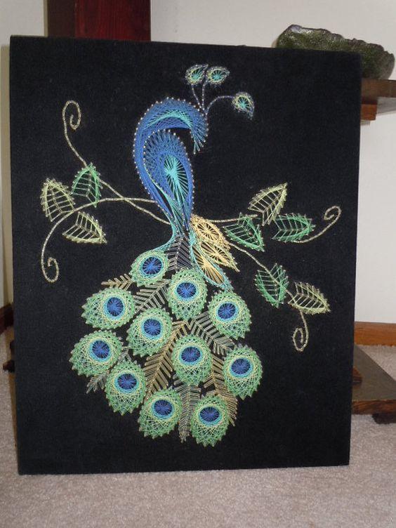 Peacock String Wall Art More