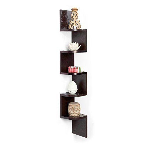 Forzza Vincent Corner Wall Shelf Wenge Forzza Wwwamazon Mesmerizing Corner Speaker Shelves