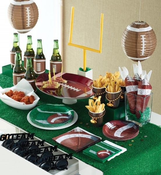 8 teller football superbowl party deko ideen party und deko. Black Bedroom Furniture Sets. Home Design Ideas