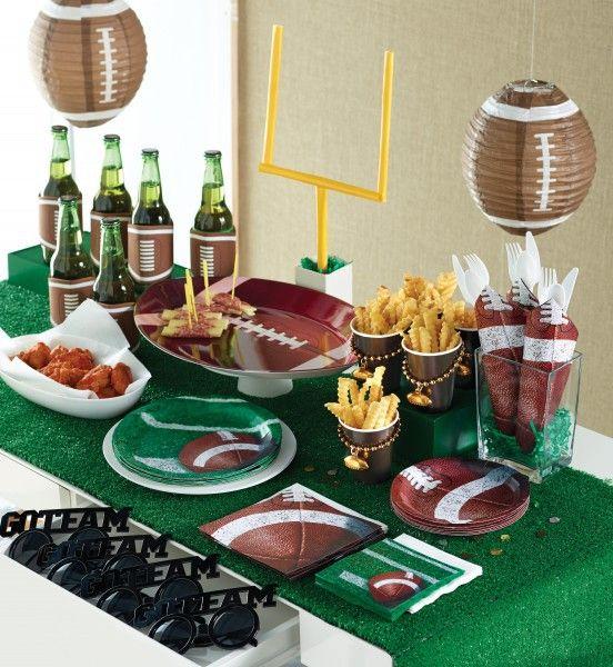 8 teller football superbowl party deko ideen party und deko. Black Bedroom Furniture Sets. Home Design Ideas