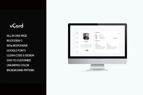 Vcard  Cv Personal Resume Html Creativework  Website Design