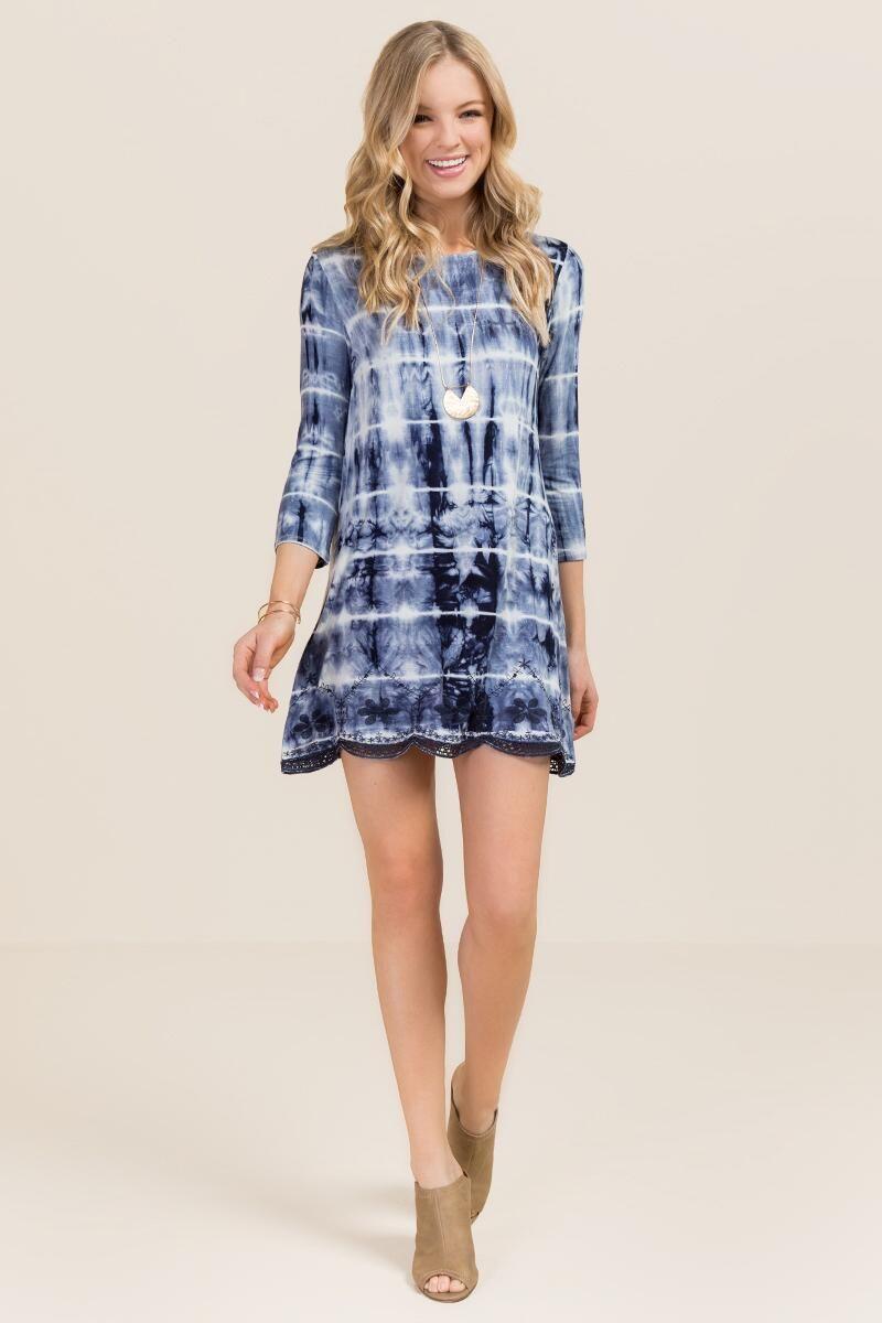 Kayla tie dye shift dress models dyes and ties