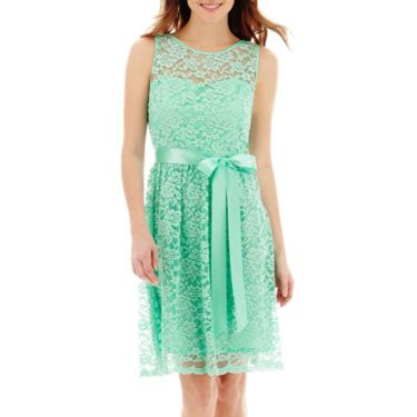 bf9446dcfe19 Simply Liliana Boat Neck Sleeveless Fit N Flare Dress in Mint Green -  JCPenney