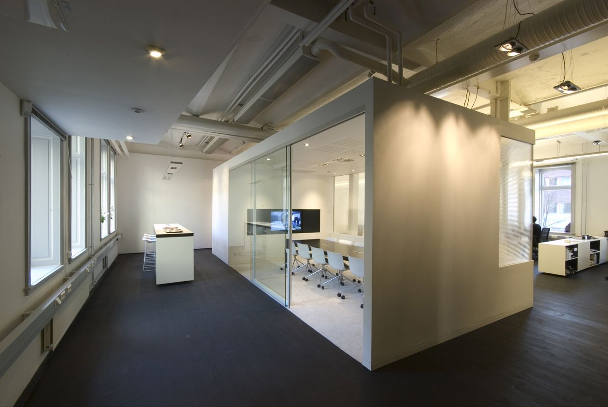 image cute design office interior design with small meeting room - Commercial Office Design Ideas
